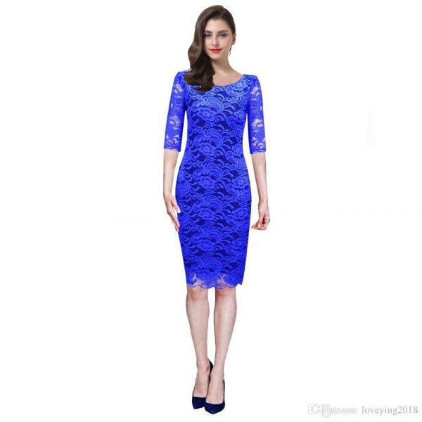 How to Style Royal Blue Lace Dress: Best 10 Elegant Outfit Ideas .