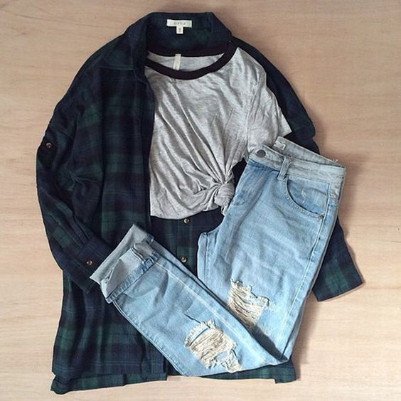 23 Awesome Grunge Outfits Ideas for Women | Flannel outfits .
