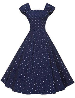 GownTown Women's 1950s Polka Dot Vintage Dresses Audrey Hepburn .
