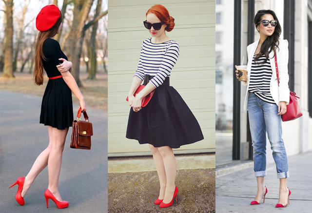 What to Wear with Red Heels? Outfit Ideas for Red Pumps | Fashion .