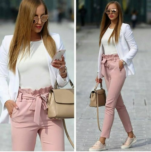 Outfit ideas in blush pink | | Just Trendy Gir