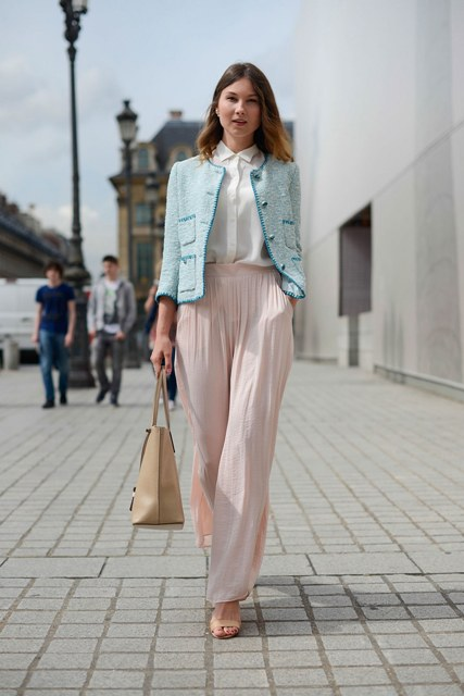 21 Feminine Pale Pink Pants Outfits - Styleohol