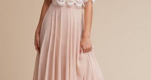 blush chiffon maxi skirt and a lace half sleeve crop top .