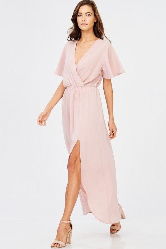 In Paris Blush Maxi Dress - Wedding Guest Dress Ideas | Drape maxi .