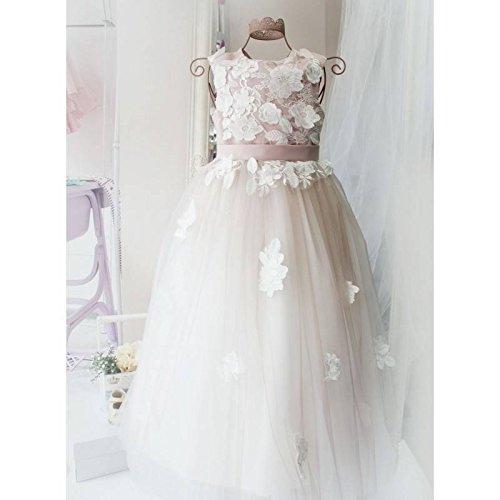 Amazon.com: Flower girl Dress, Blush Pink Flower Girl Dress, Lace .