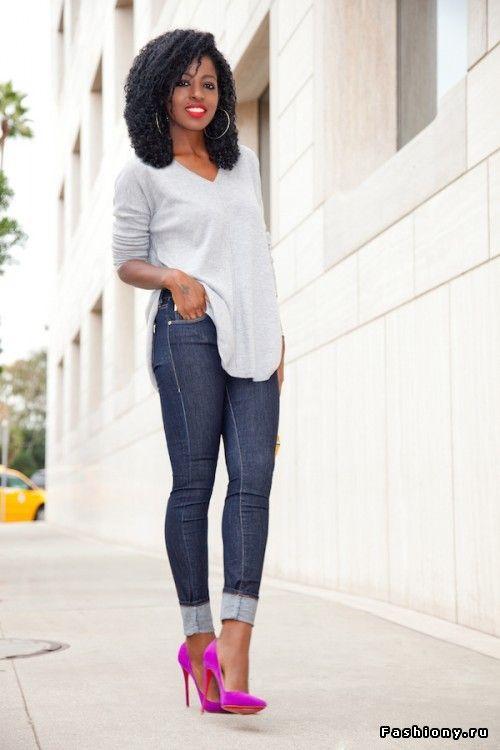 Новые образы от Folake Kuye Huntoon | Pink heels outfit, Pink .