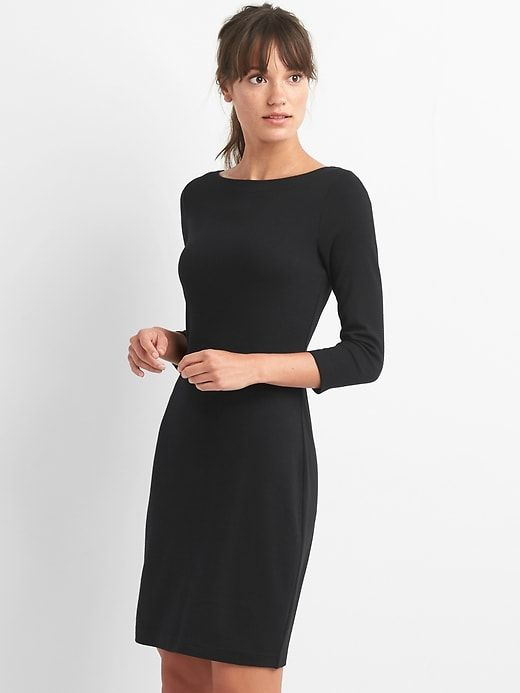 Gap Womens Modern Tee Boatneck Dress True Black | Fashion, Boat .