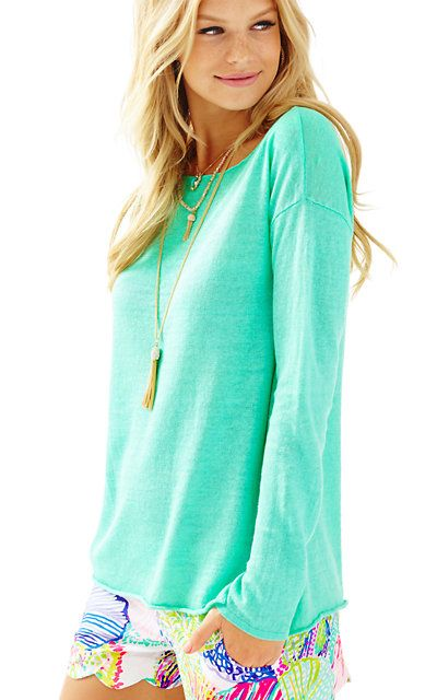 Lilly Pulitzer Alana Linen Boatneck Pullover Sweater | Boatneck .