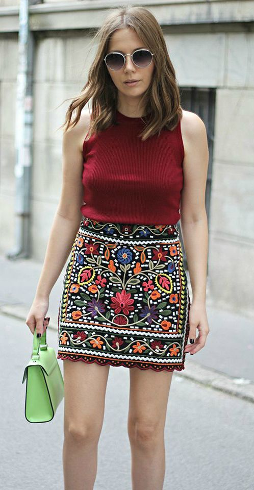 An Embroidery Skirt As Featured on Pasaboho. Now Available at $35 .