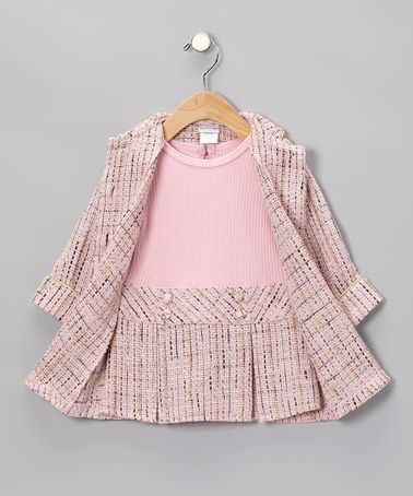 Take a look at this Pink Boucle Coat & Dress - Infant by Sweet .