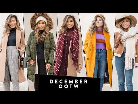 DECEMBER Outfits of the Week OOTW | Winter Outfit Ideas | Miss .
