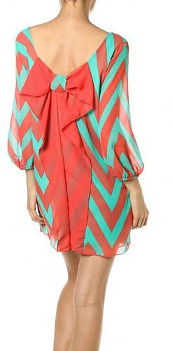 Zig Zag Bow Back Loose Fit Dress | Loose fitting dresses, Fashion .