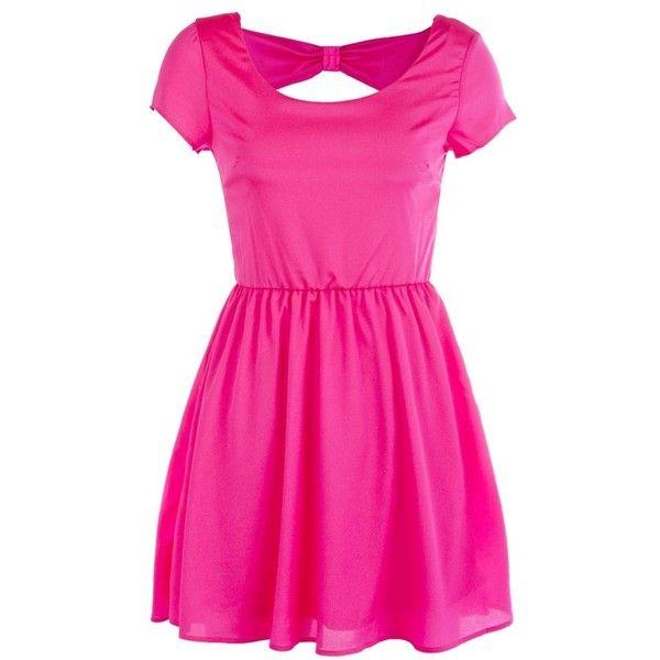 Bow Back Keyhole Dress ($20) ❤ liked on Polyvore | Keyhole dress .