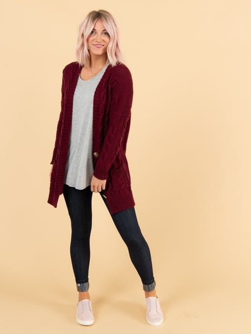 Boyfriend Cardigan Wine | Sweaters, Boyfriend cardigan, Clothes .