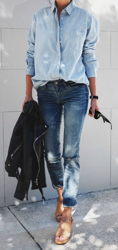 Long Over Due: Our Denim On Denim Trend File - Outfits And Ideas .