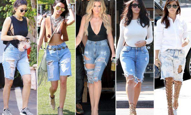 Must have» η Skinny Denim βερμούδα | Knee length denim shorts .