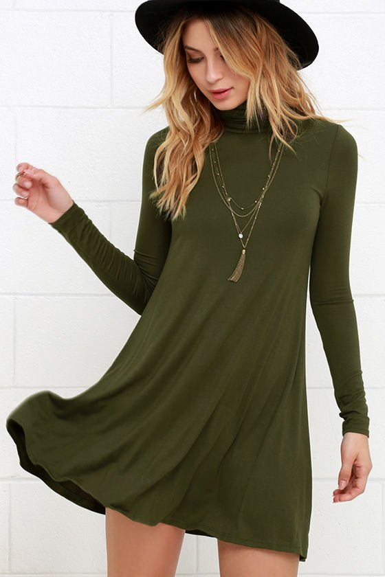 How to Style Long Sleeve Swing Dress: 15 Breezy Outfit Ideas .