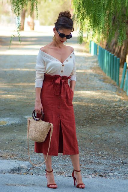 C-For Closet : The bronze skirt | Outfits, Trench dress, Dress outfi