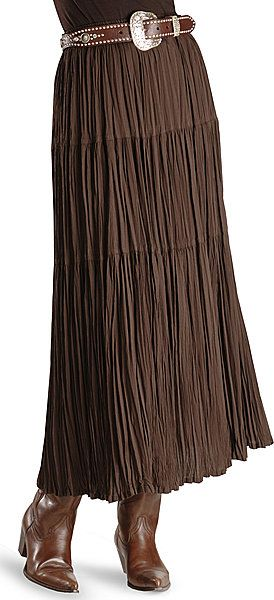 Cattlelac Broomstick Skirt - Brown I love this with the belt and .