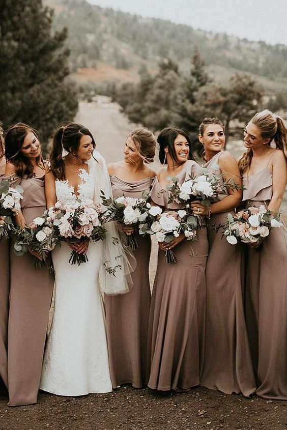 49 Amazing Rustic Wedding Ideas to Try | Rustic bridesmaid dresses .
