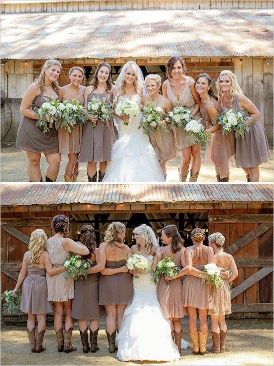 Fabulous Rustic Barn Wedding | Wedding, Wedding bridesmaid dresses .