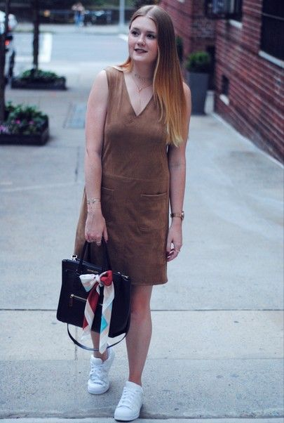 Suede dress outfit | suede dress outfit fall | Brown suede dress .