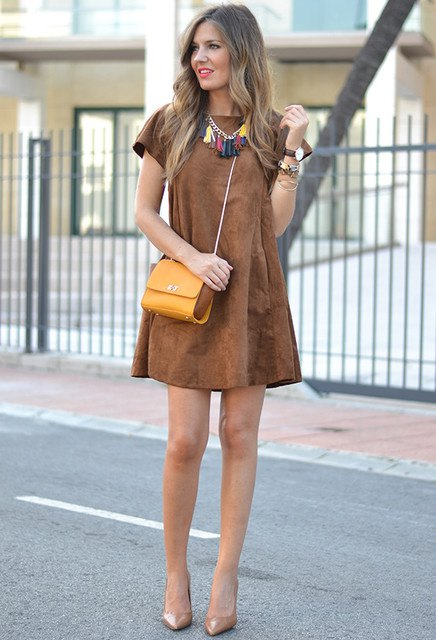 How to Wear Suede Dress? 14 Amazing Outfit Ideas - FMag.c