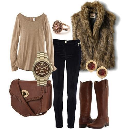 Fur Vest Outfits - 18 Chic Ideas On How to Wear a Fur Ve
