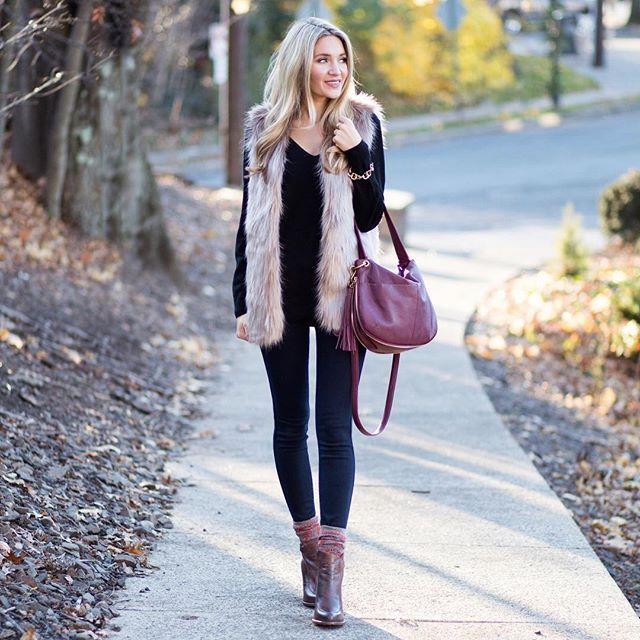 Mid-Length Brown Faux Fur Vest | Ropa linda de invierno, Ropa .