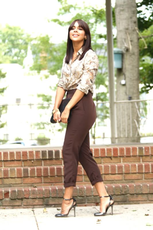 Warm Chocolate | Brown pants outfit for work, Brown pants outfit .