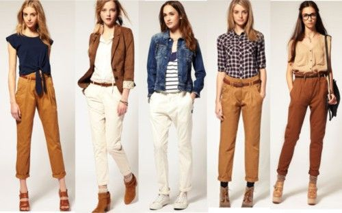 chinos for women - Google Search More | Brown pants outfit, Khaki .