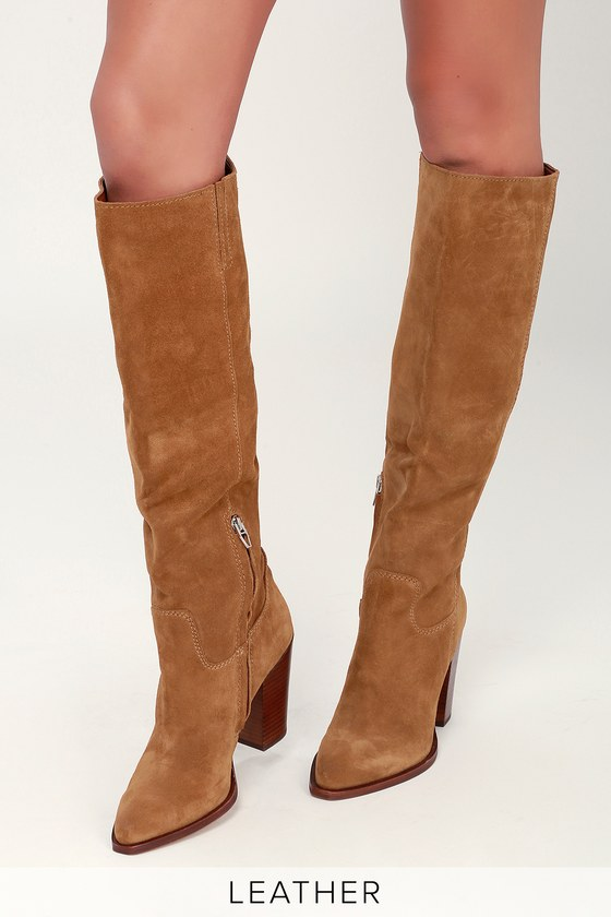 Dolce Vita Kylar - Brown Suede Leather Boots - Knee-High Boo