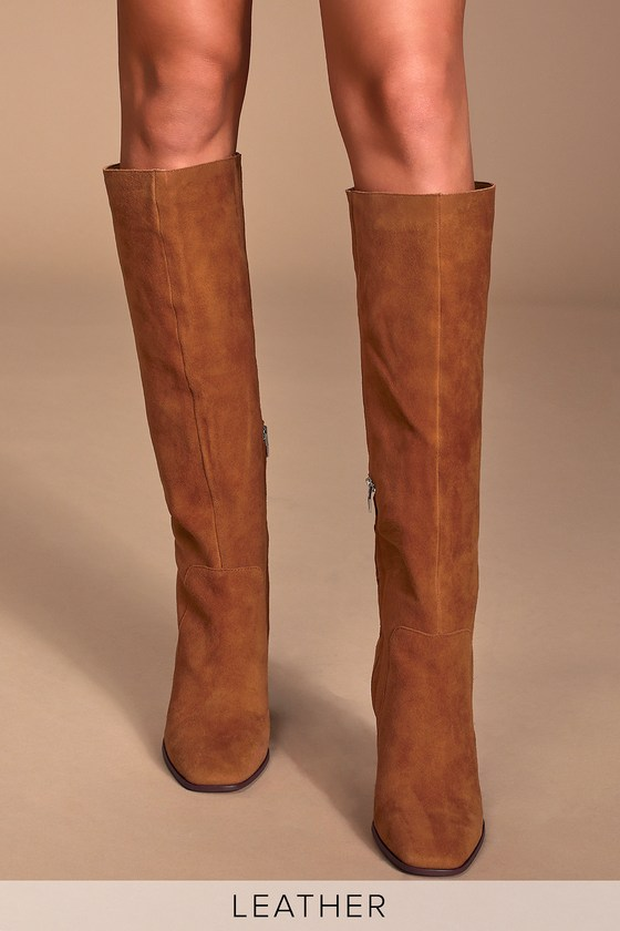 Dolce Vita Kasidy Brown - Genuine Suede Boots - Knee-High Boo