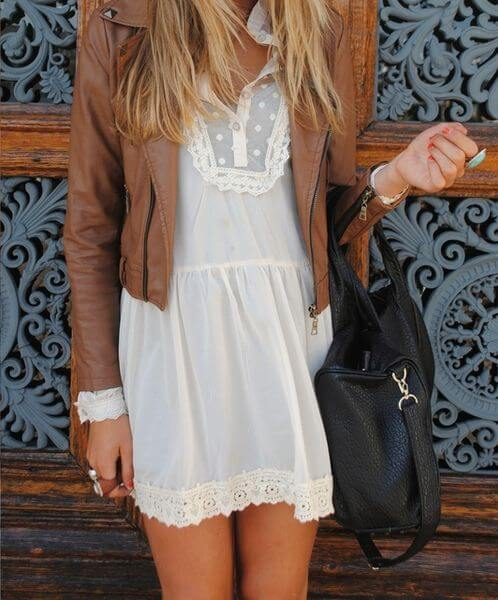 Wearing Brown Leather Jacket: 25 Inspiring Looks - BelleT