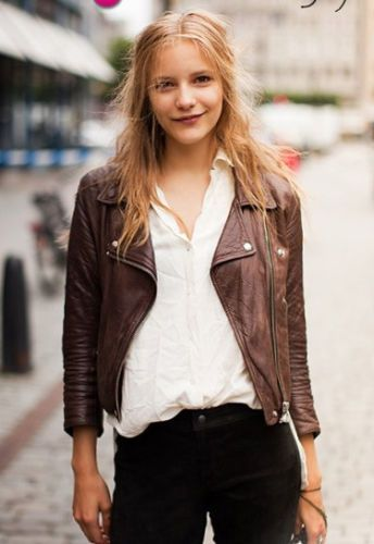 I HAVE MOVED | Fashion, Dark brown leather jacket, Brown leather .
