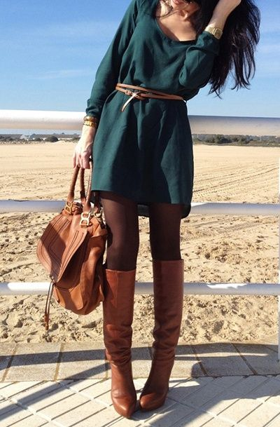 28 Trendy Winter Outfit Ideas with Boots | Autumn fashion, Fashion .