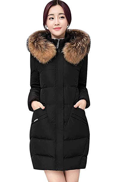 ISSHE Hooded Long Coats for Women Womens Winter Bubble Coat with .
