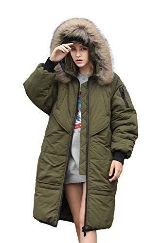 Women Winter Coat Green Long Puffer Down Jacket Waterproof Women .