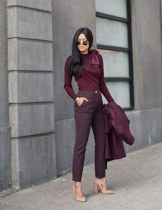 How to Wear a Burgundy Coat For Women (173 looks & outfits .