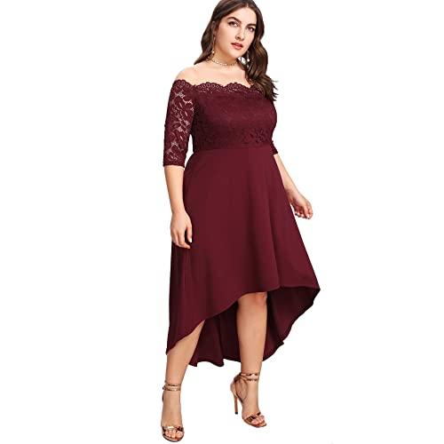 Plus Size Burgundy Dresses: Amazon.c