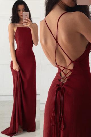 Burgundy A-line Long Prom Dress Sweet 16 Dance Dress Fashion .