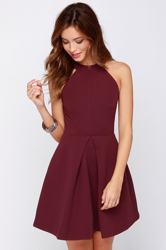 Keepsake Adore You - Burgundy Dress - Cocktail Dress - $169.