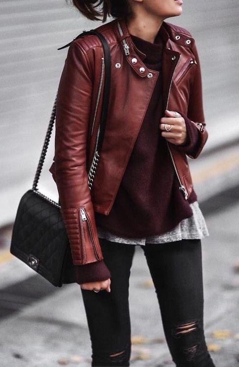 Burgundy layers. | Fashion clothes women, Fashion, Edgy fashi