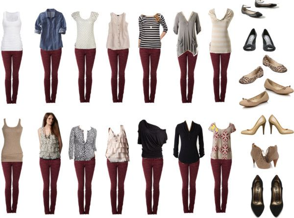 Burgundy Jeans - Outfit Ideas | Burgundy jeans outfit, Burgundy .