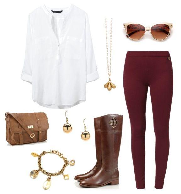 Leggings-Outfit-5.jpg 576×619 pixels | Burgundy leggings, Fashion .