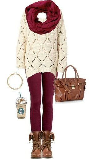 How to Wear Burgundy Leggings: Top 13 Outfit Ideas to Look Tall .