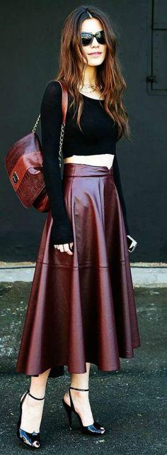 116 Best Burgundy skirt images | Burgundy skirt, Fashion, Outfi