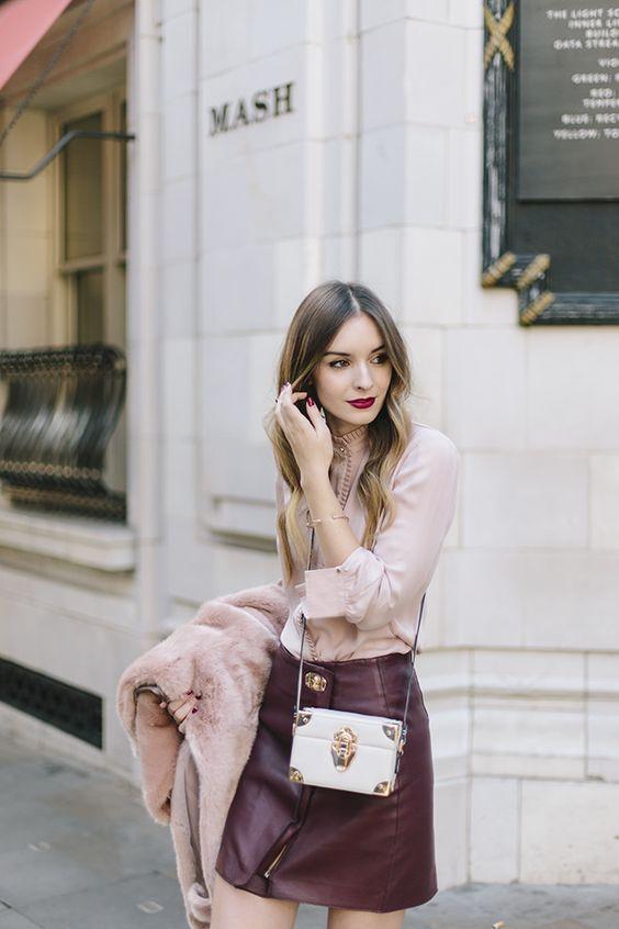 Burgundy + blush. | Style | Fashion, Burgundy outfit, Cloth