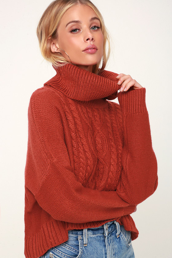 Jack By BB Dakota Say Anything - Burnt Orange Sweater - Sweat