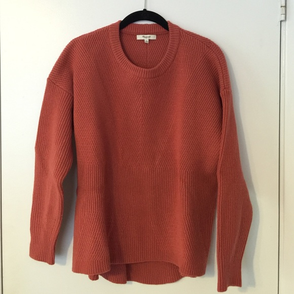 Madewell Sweaters | Burnt Orange Sweater | Poshma